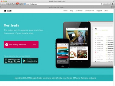 feedly RSSリーダーSafari機能拡張 Googleリーダー移行読込