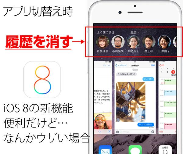iOS8新機能電話履歴