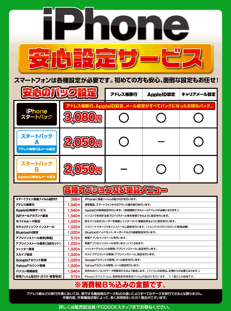ヨドバシiPhone6安心設定サービス