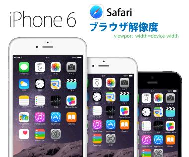iPhone 7&6/Plusブラウザサイズは何px?viewport width=device-width時のSafari