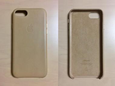 Apple純正 iPhone7レザーケース「タン」カラーがゴールド相性抜群