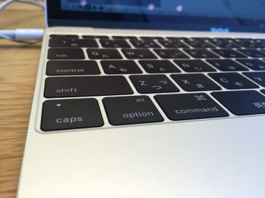 12インチMacBookキータッチの浅さショートカット難儀か