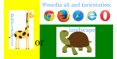 勘違いしていたCSSメディアクエリのlandscapeとportrait