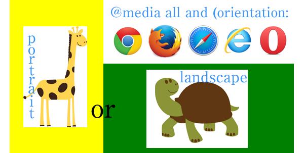 CSSメディアクエリのlandscapeとportrait
